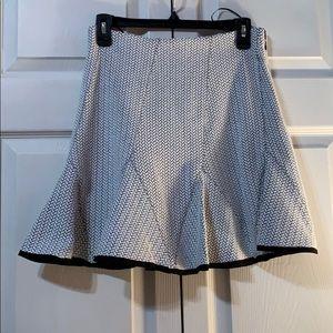 DKNY white/black patterned skirt
